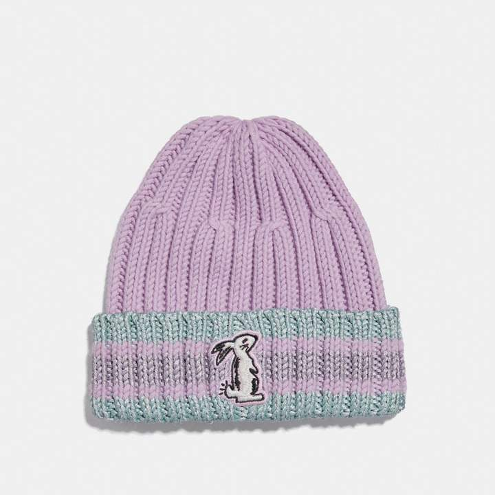 Coach x Selena Knit Hat With Bunny