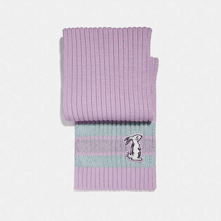 Coach x Selena Knit Scarf With Bunny
