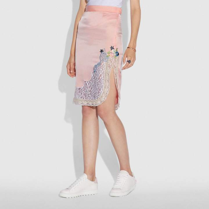 Coach x Selena Lace Detail Skirt