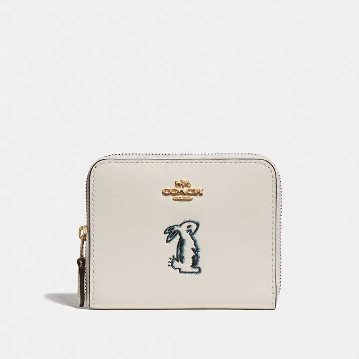 Coach x Selena Small Zip Around Wallet With Bunny