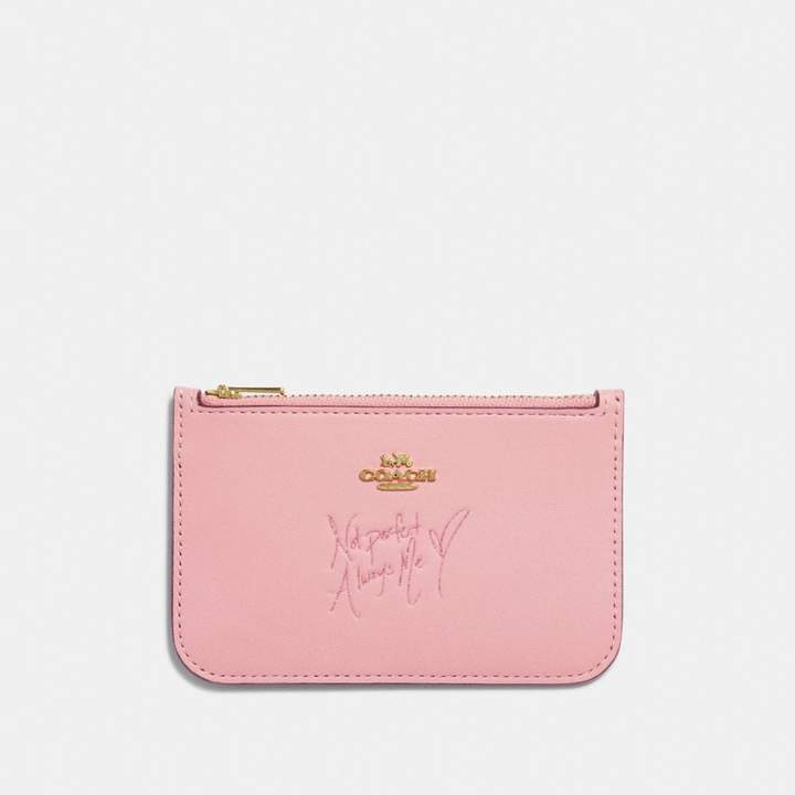Coach x Selena Zip Card Case in Colorblock
