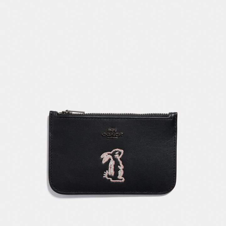 Coach x Selena Zip Card Case With Bunny