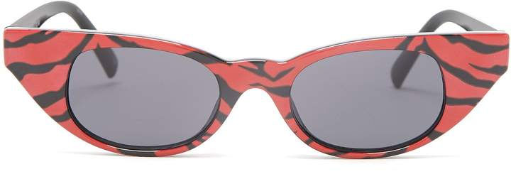 Le Specs The Breaker tiger print acetate sunglasses