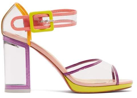 Christian Louboutin - Babaclara 100 Patent Leather And Pvc Sandals