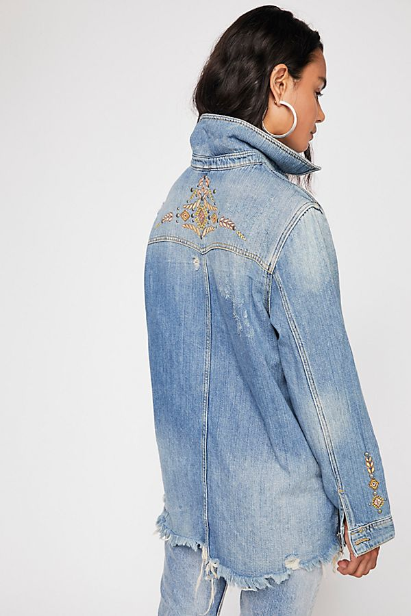 Free People Moonchild Shirt Jacket back view
