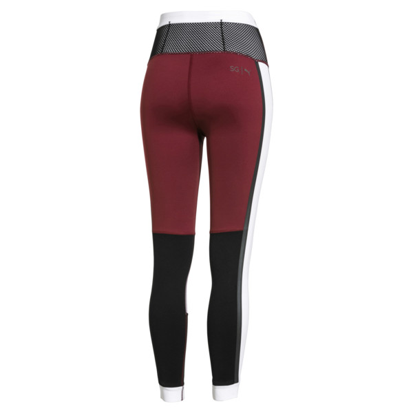PUMA x SELENA GOMEZ Women's 78 Training Leggings red back view