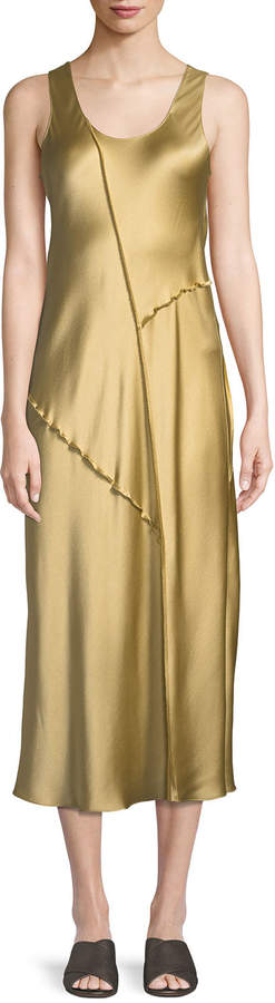 vince-raw-edge-silk-tank-dress