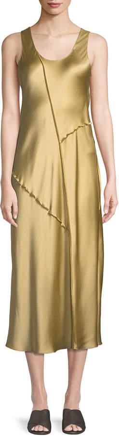 vince-raw-edge-silk-tank-dress