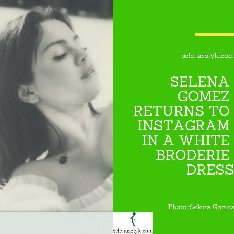 Where to get Selena Gomez style white lace broderie dress Instagram January 2019
