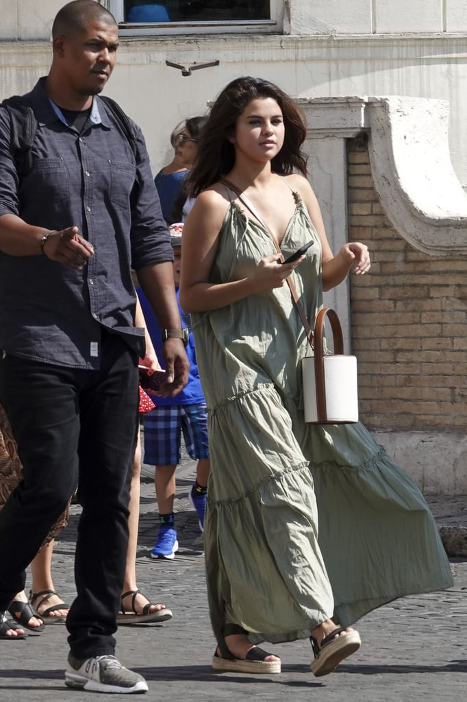 how to find Selena Gomez green tiered dress Italy July 2019