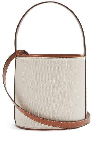 Staud - Bisset Canvas And Leather Bucket Bag