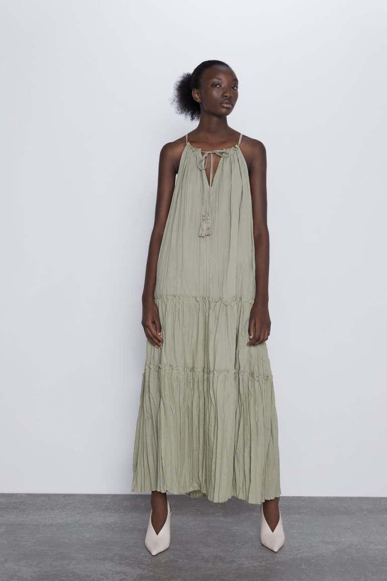 Zara Wrinkle Look Dress