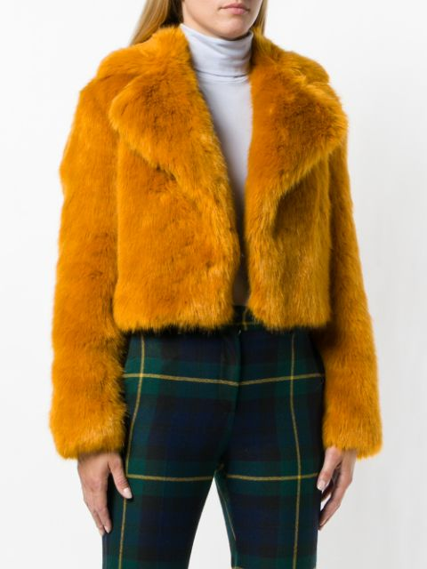 Michael Kors cropped faux-fur jacket