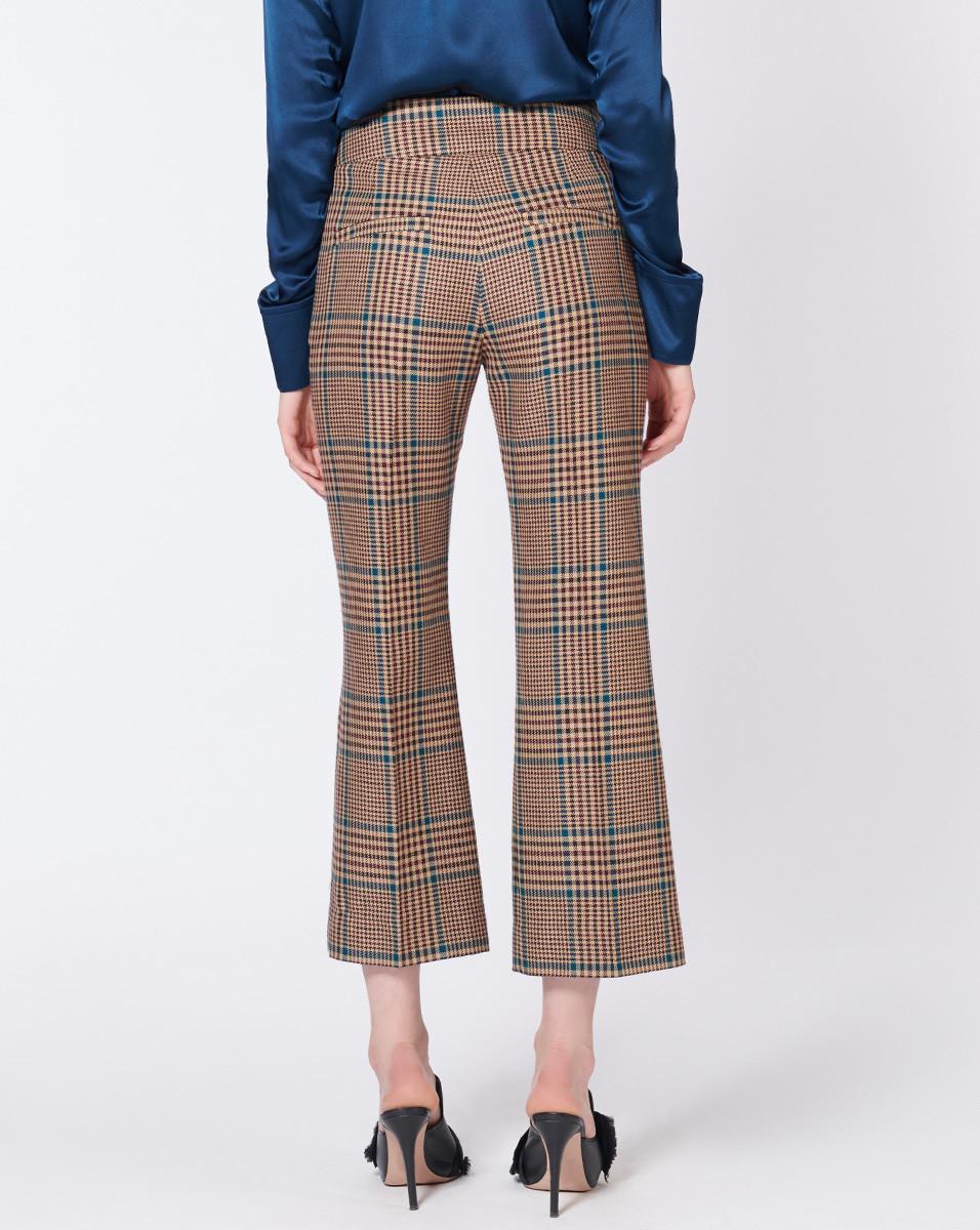 Veronica BeardCormac Plaid Wool Blend Trousers back view