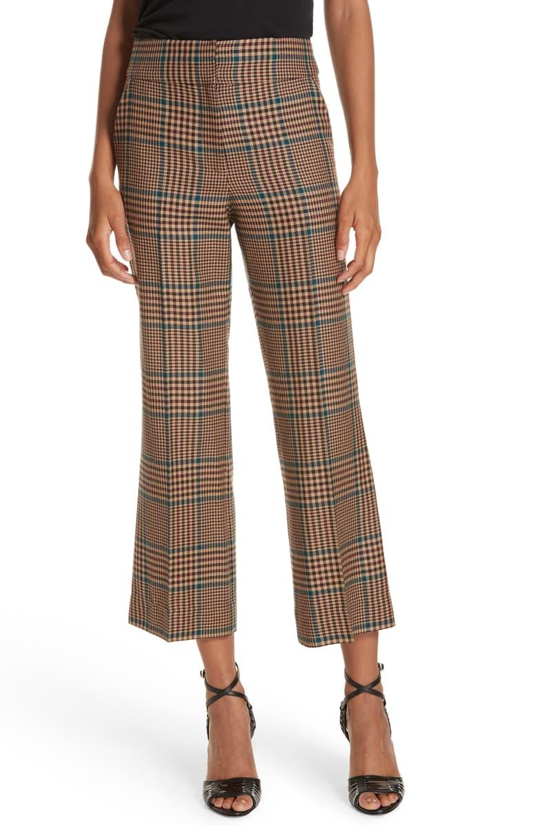 Veronica BeardCormac Plaid Wool Blend Trousers