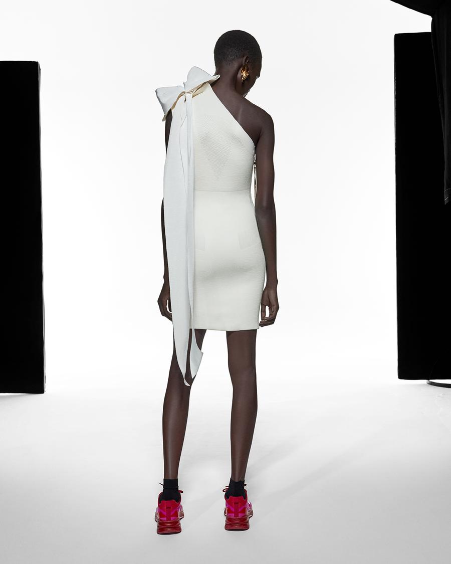 AZ Factory Asymmetric Bow Dress back view