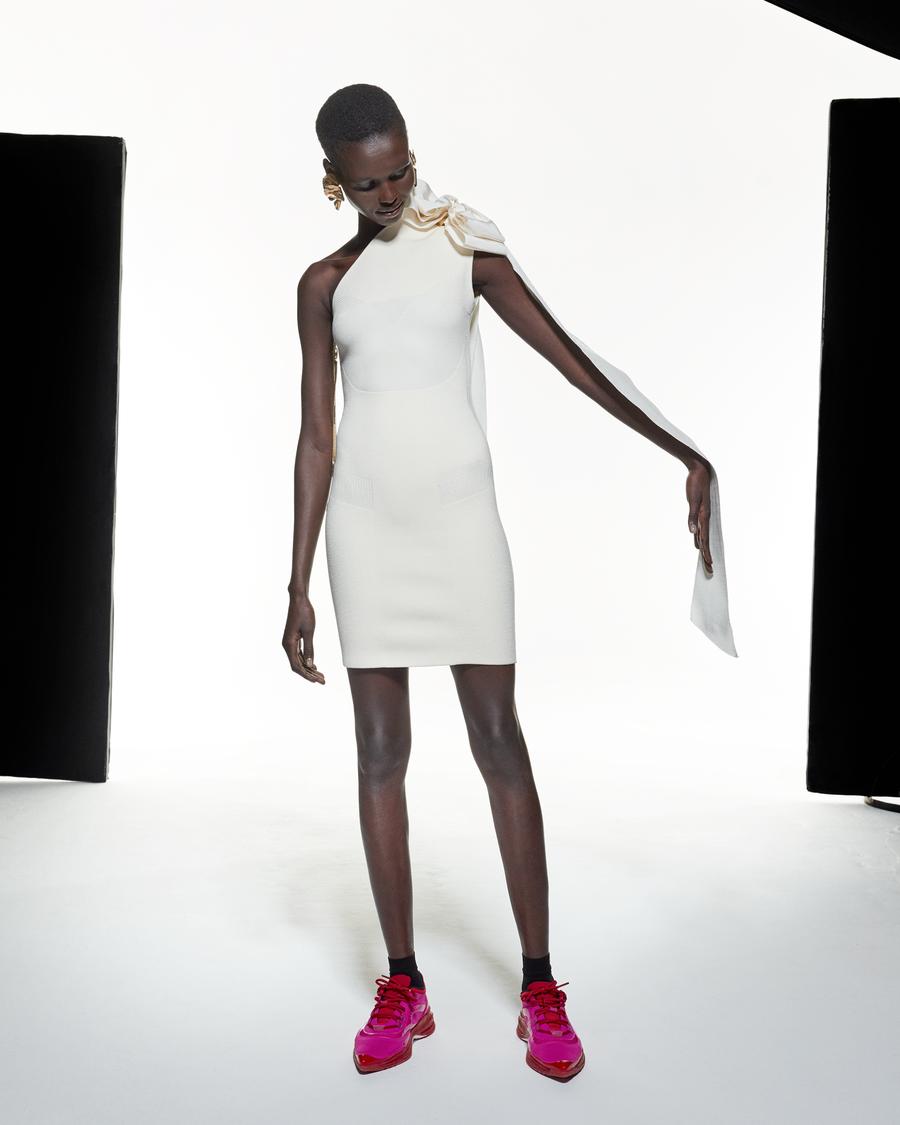 AZ Factory Asymmetric Bow Dress