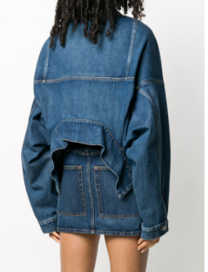 Balenciaga Upside Down denim jacket back view