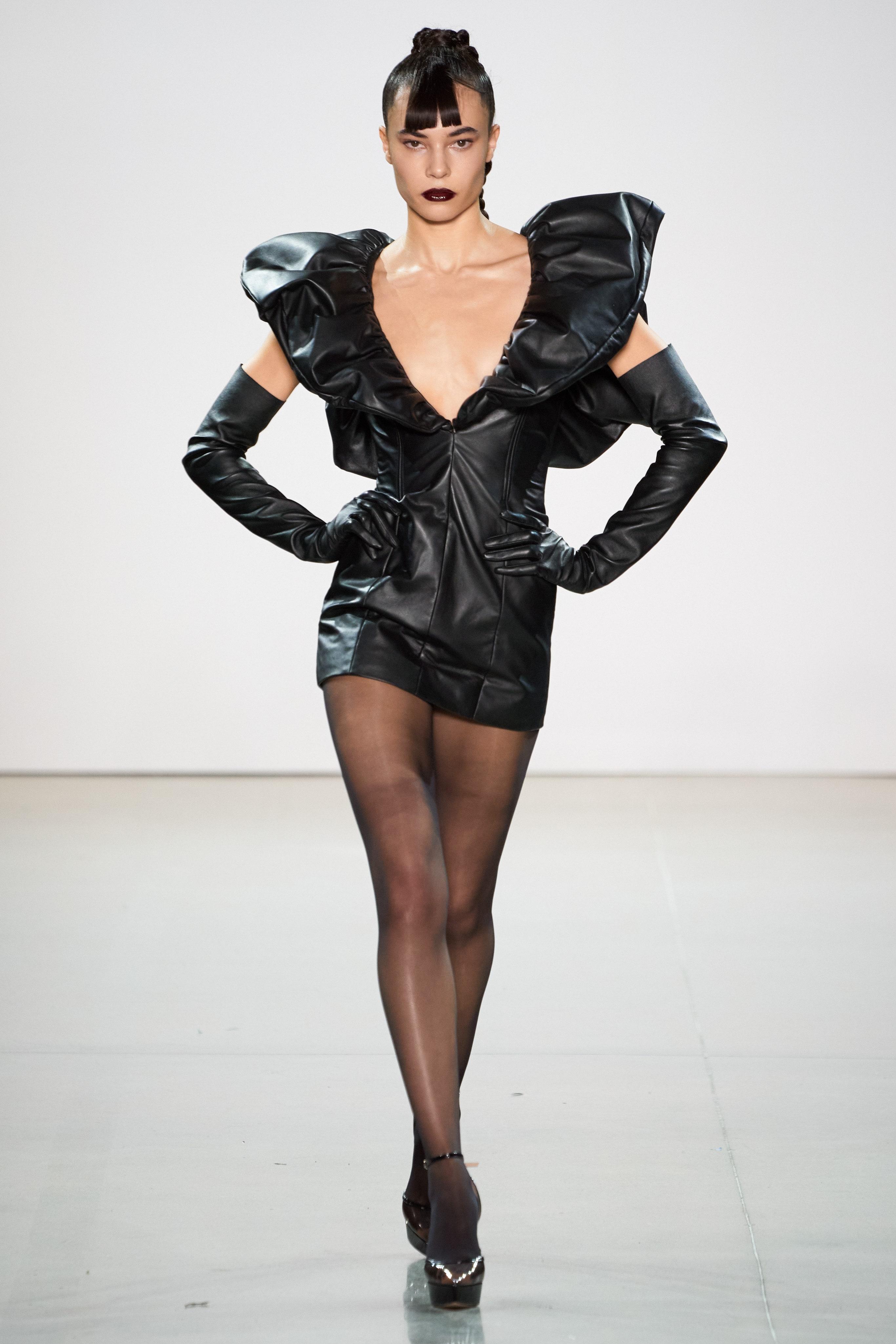 LeQuan Smith Fall 2020 dress Photo Daniele Oberauch Gorunway com