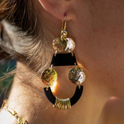Lisa Eisner Floating Hook Earrings