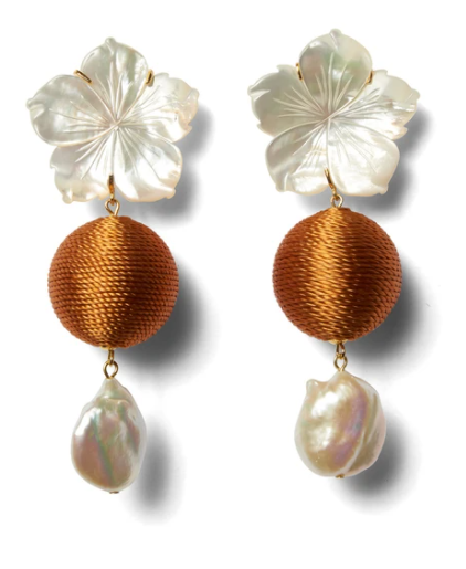 Lizzie fortunato Paper white Drop Earrings in Amber