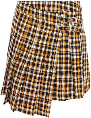 mcq-alexander-mcqueen-asymmetric-pleated-cotton-tweed-mini-wrap-skirt