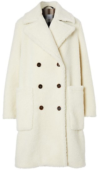 Selby Oversized Double-Breasted Teddy Coat