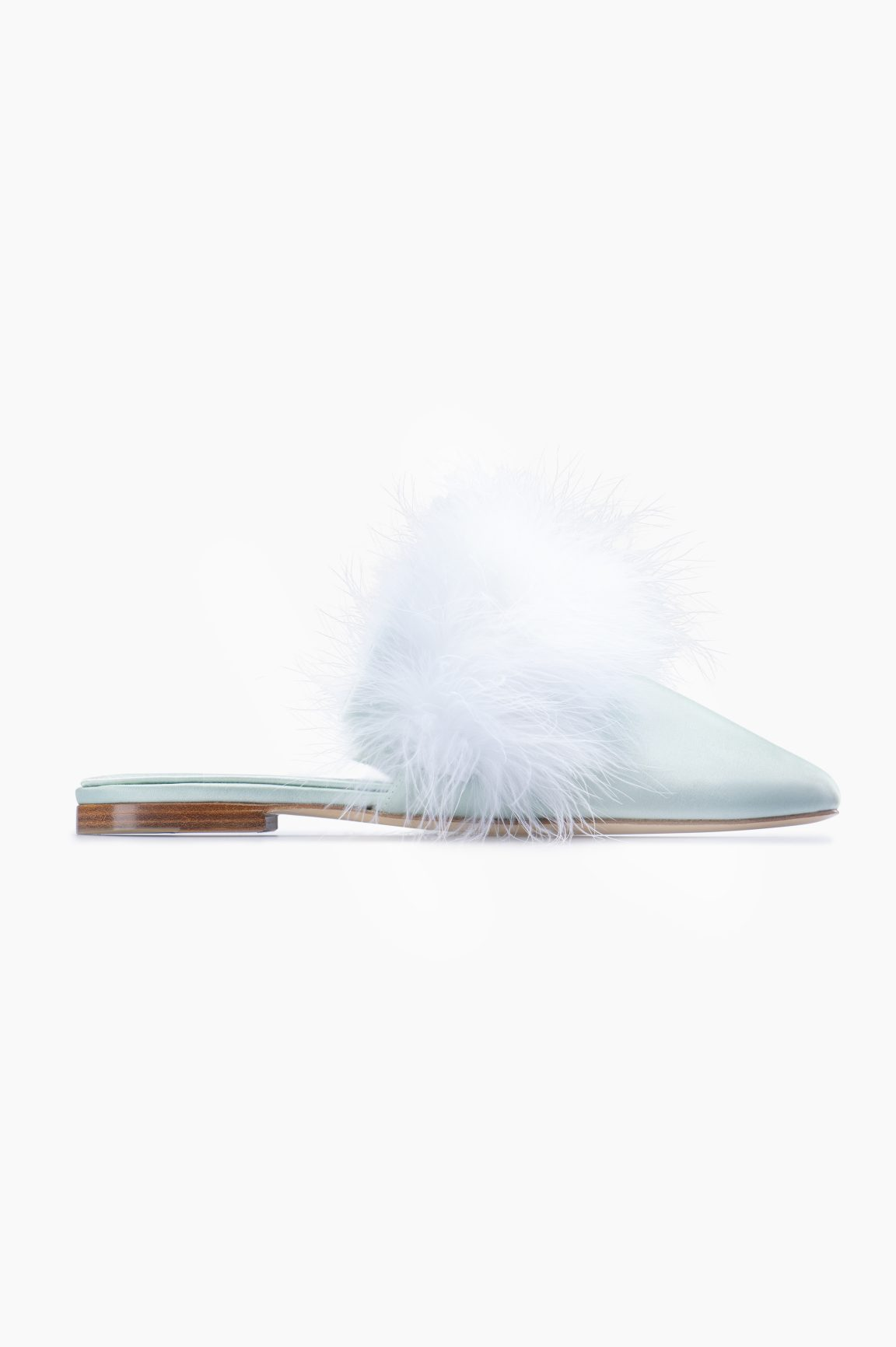 SleeperManon Mules with Detachable Feathers
