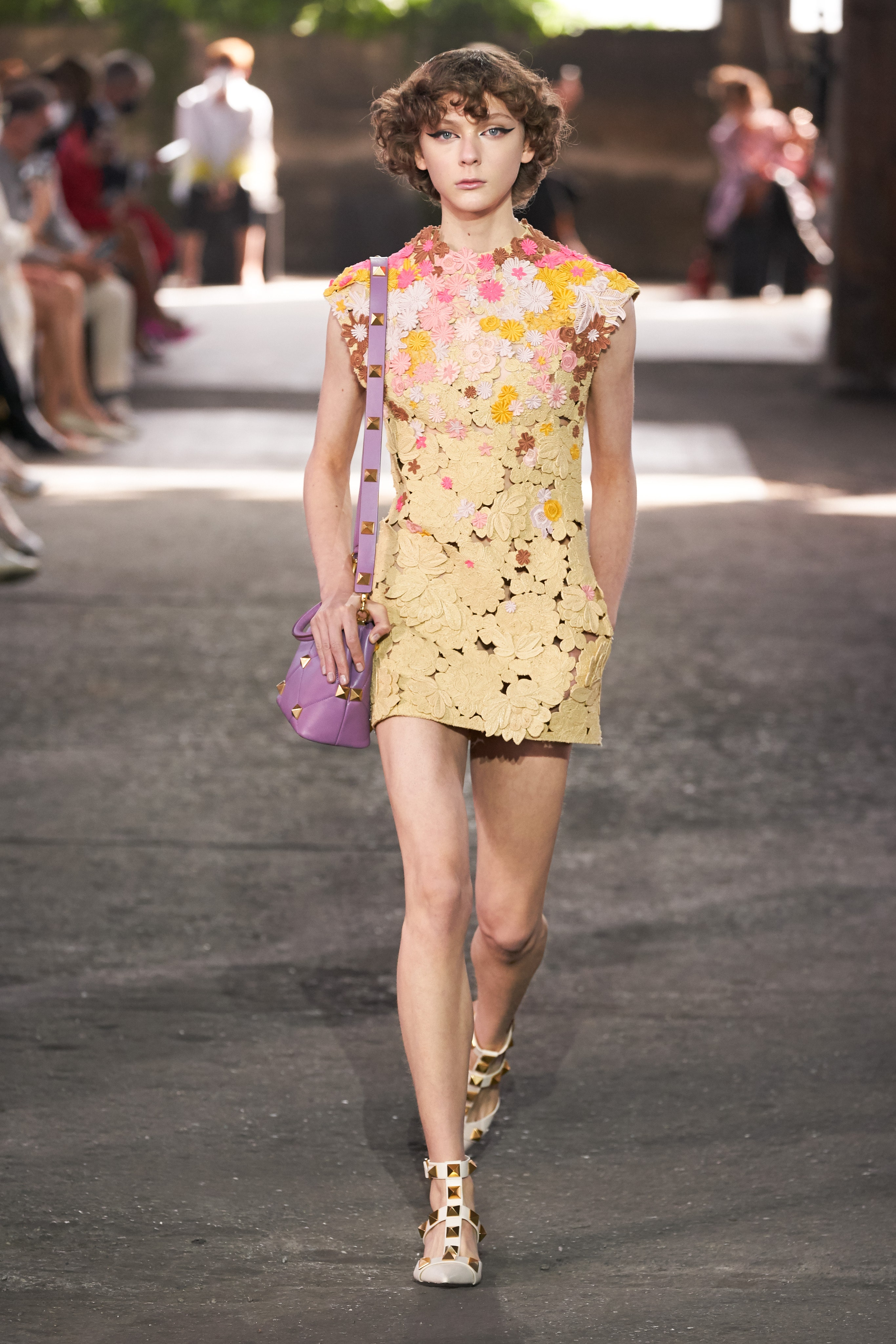 Valentino Spring 2021 Ready To Wear floral applique dress
