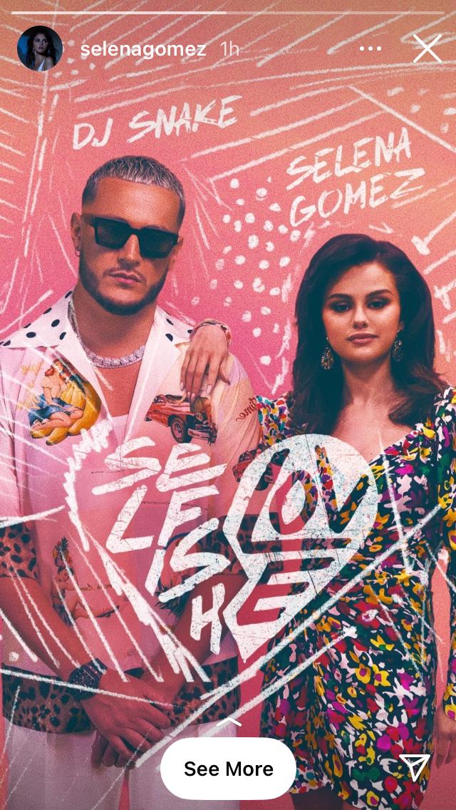 where to get Selena Gomez multi floral wrap dress DJ Snake Selfish Love 2 MArch 2021 Photo Selena Gomez