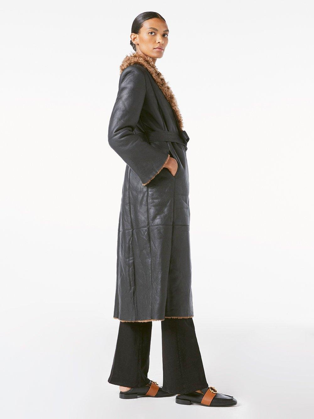 Frame Shearling Leather Trench v2
