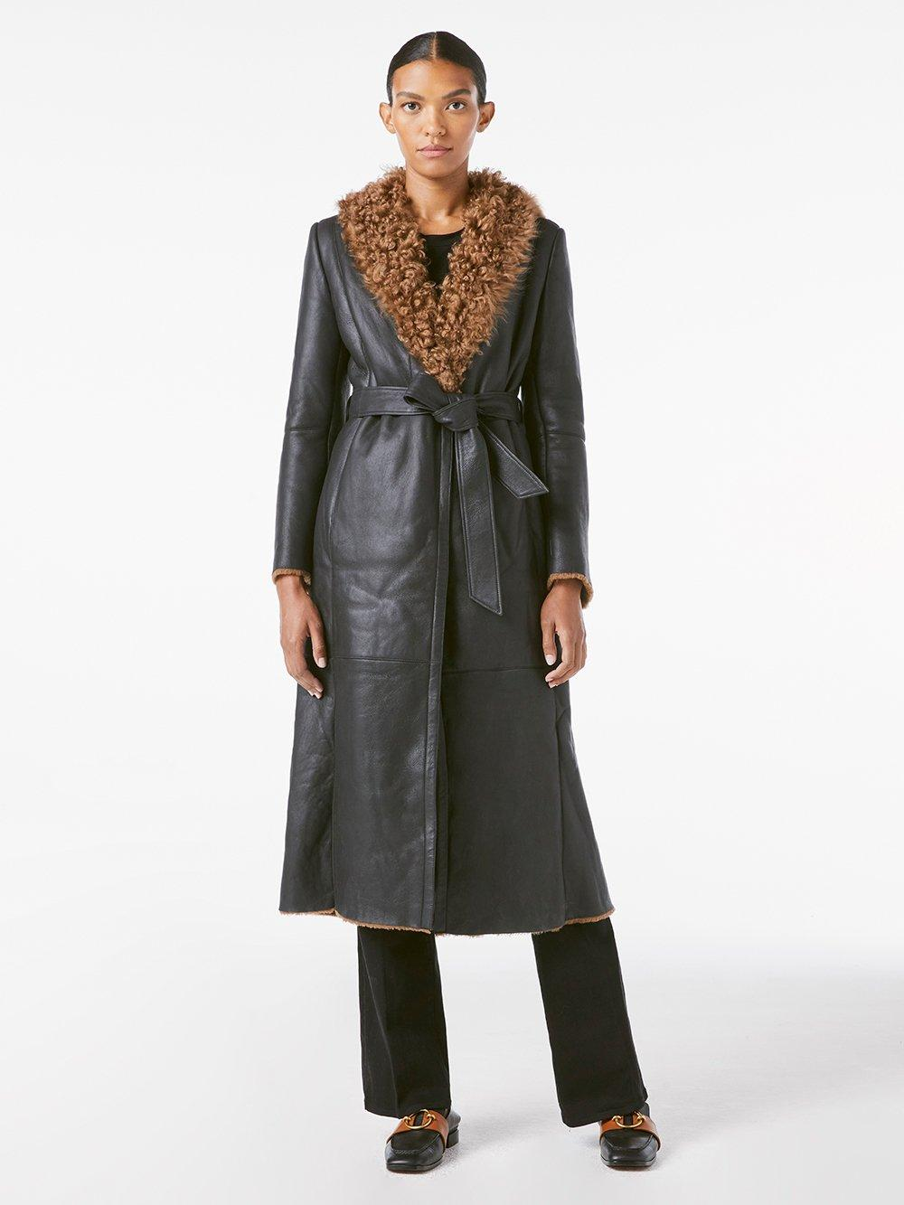 Frame Shearling Leather Trench