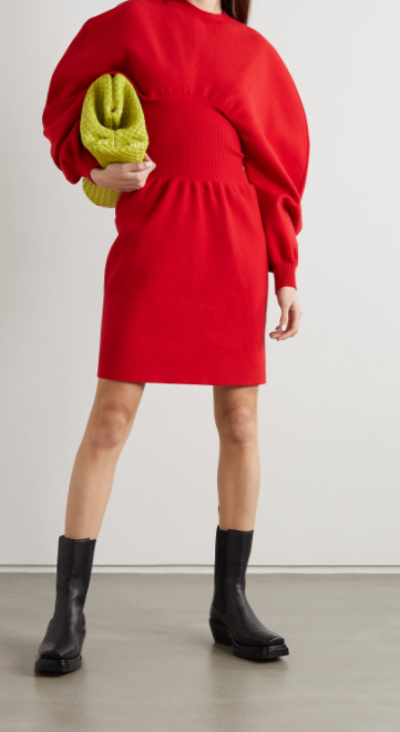 Bottega Veneta Wool Blend Mini Dress