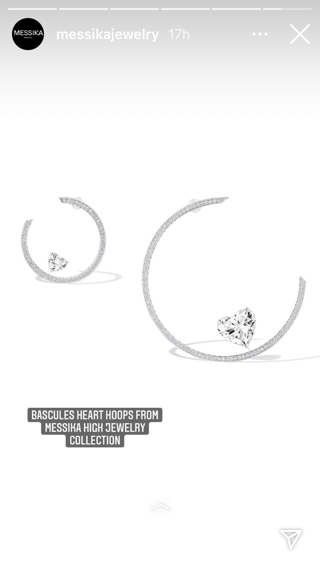 Messika Bascules Heart Hoops