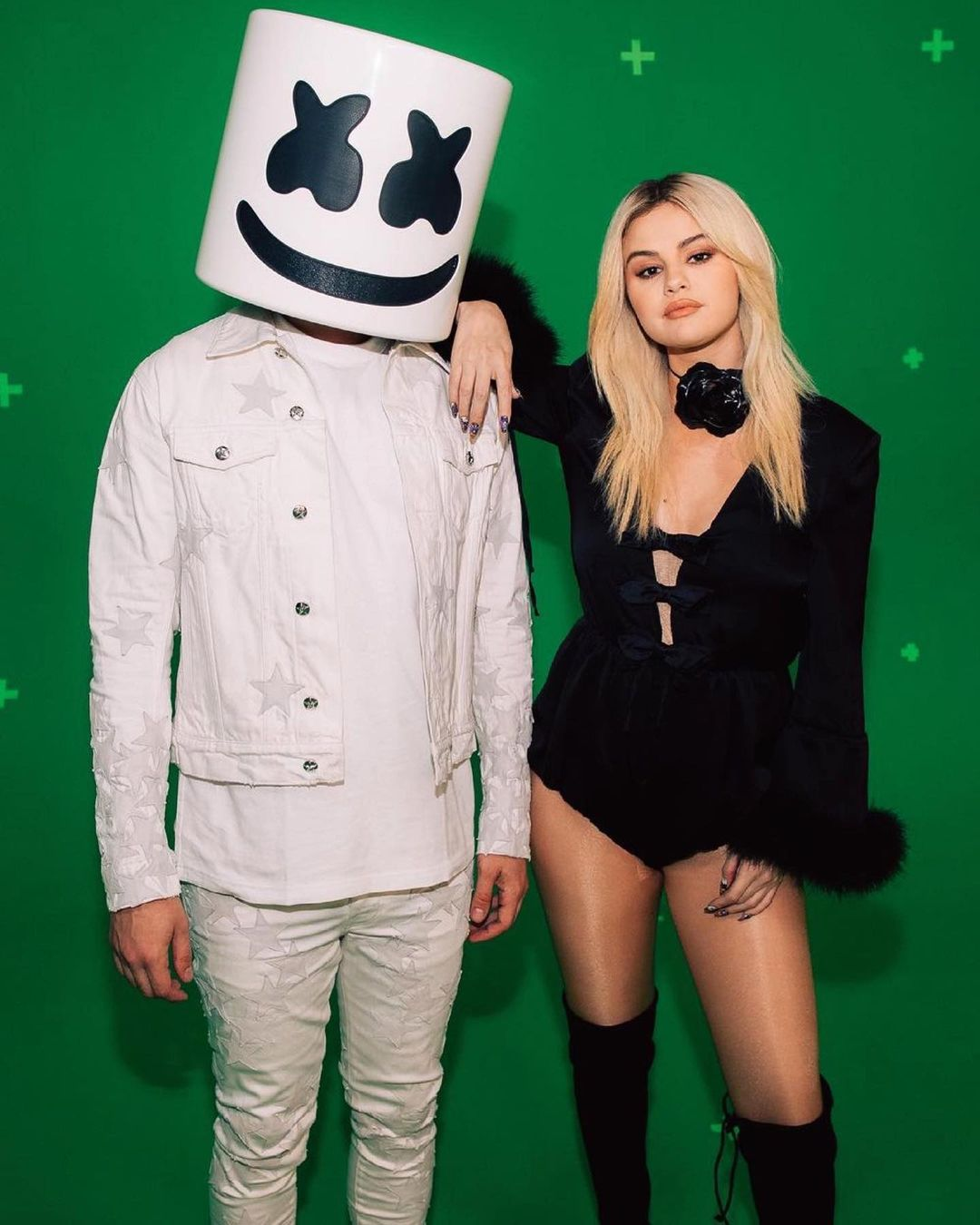 where to get Selena Gomez black bodysuit UEFA Final Opening Ceremnony 29 MAy 2021 Photo Hung Vanngo