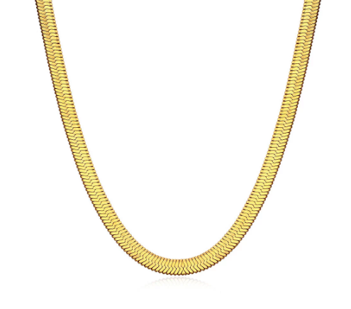 Fallon Jewelry Hailey Herringbone Chain Necklace