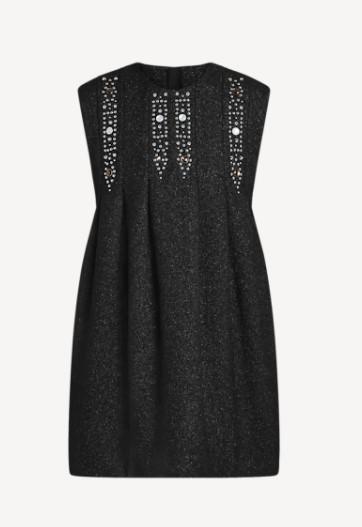 Louis Vuitton Stud Detail Glitter Dress
