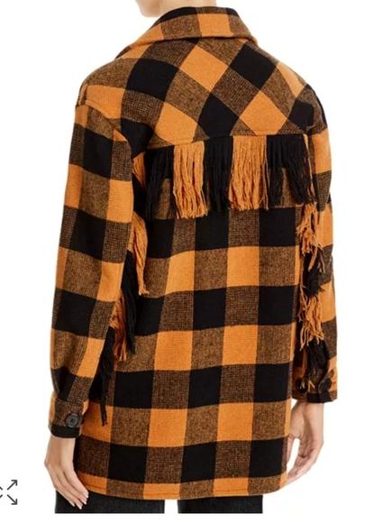 Aqua shirt jacket back view