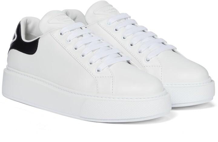 Prada Macro leather sneakers