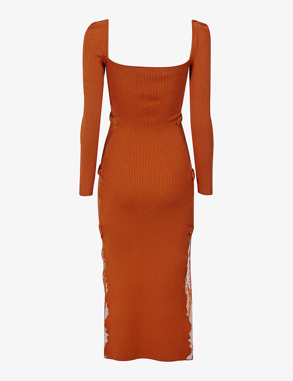 Self Portait Sweetheart-neckline stretch-knit midi dress back view