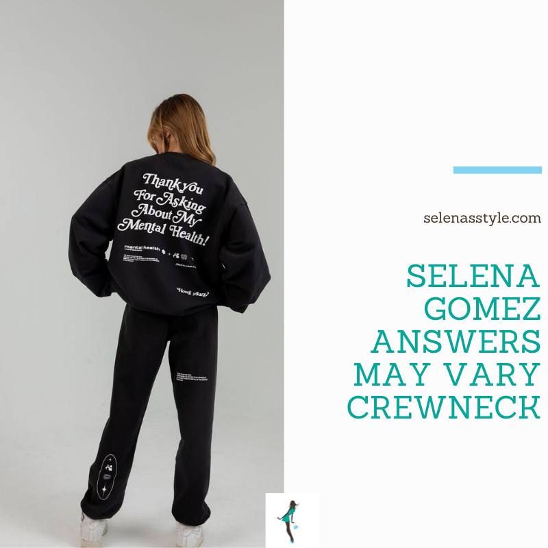 Where to get Selena Gomez outfits October 2021 blog grey mental health sweatshirt white sneakers
